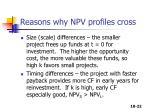 reasons why npv profiles cross