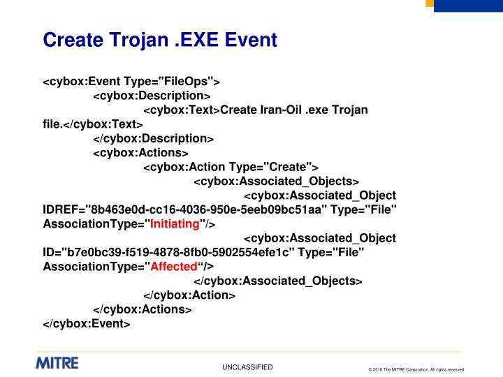 Create Trojan .EXE Event