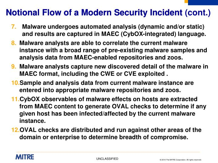Notional Flow of a Modern Security Incident (cont.)