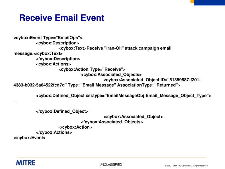 Receive Email Event