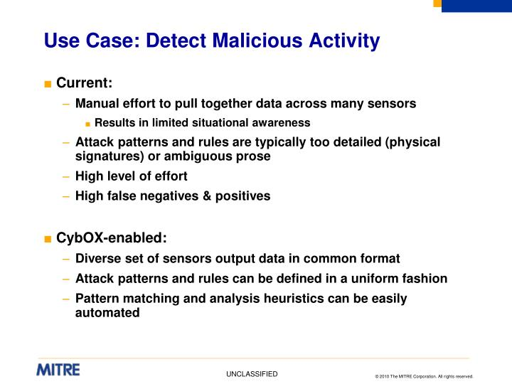 Use Case: Detect Malicious Activity