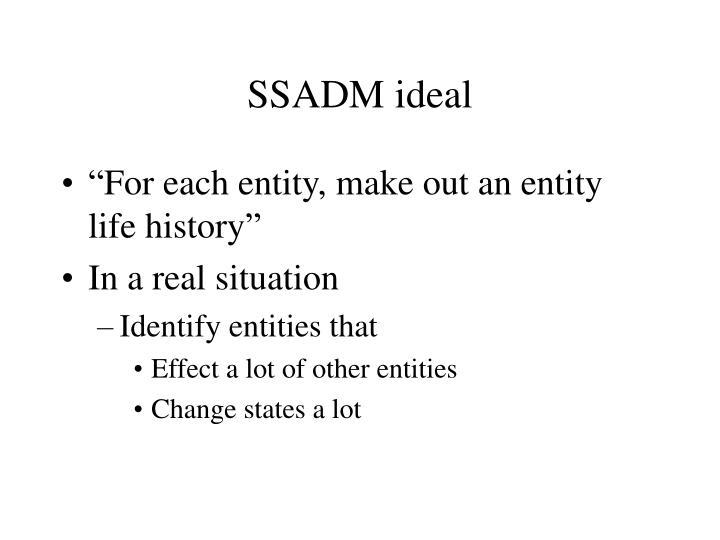SSADM ideal