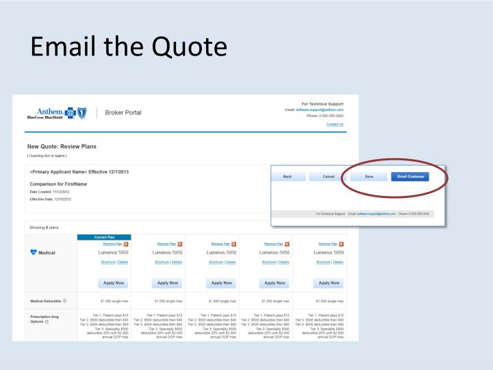 Email the Quote