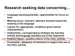research seeking data concerning