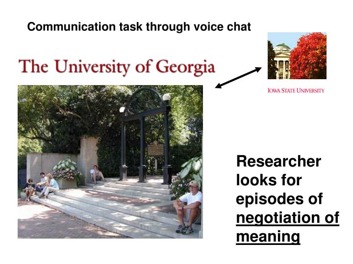 Communication task through voice chat