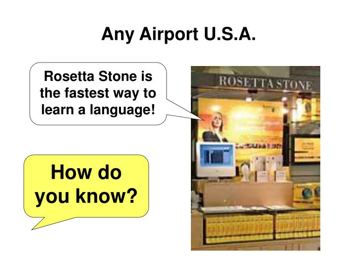 Any Airport U.S.A.