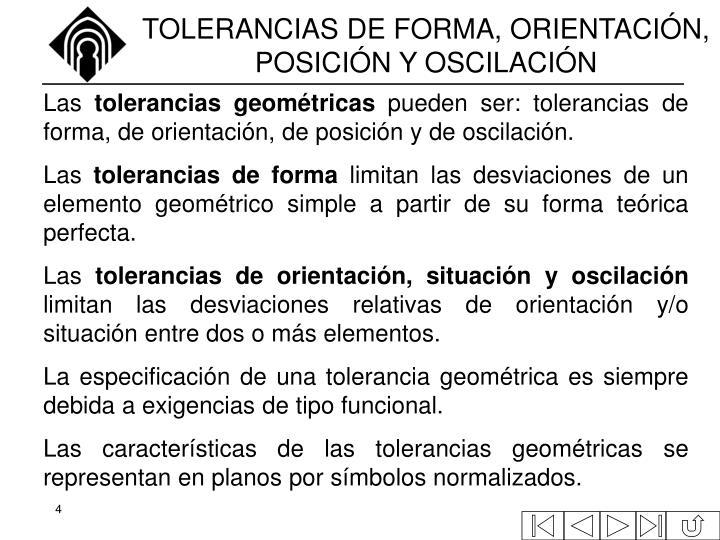 TOLERANCIAS