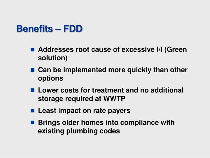 Benefits – FDD