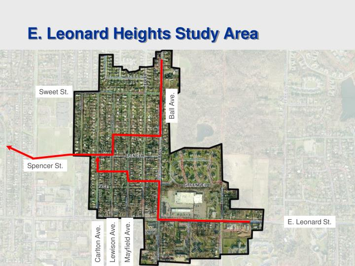E. Leonard Heights Study Area