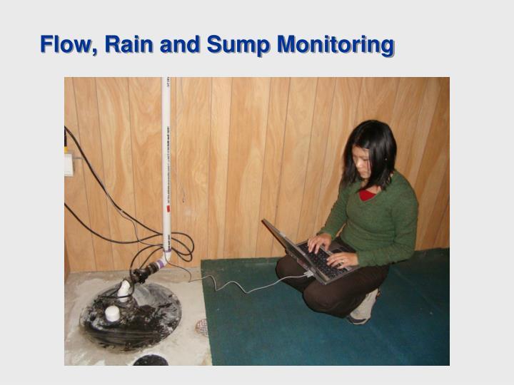 Flow, Rain and Sump Monitoring
