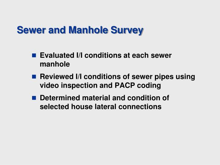 Sewer and Manhole Survey