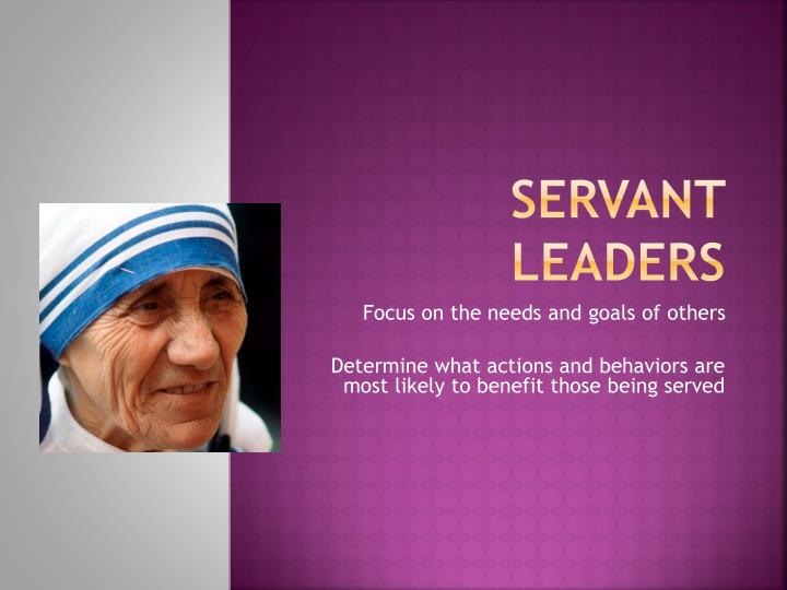 Servant Leaders