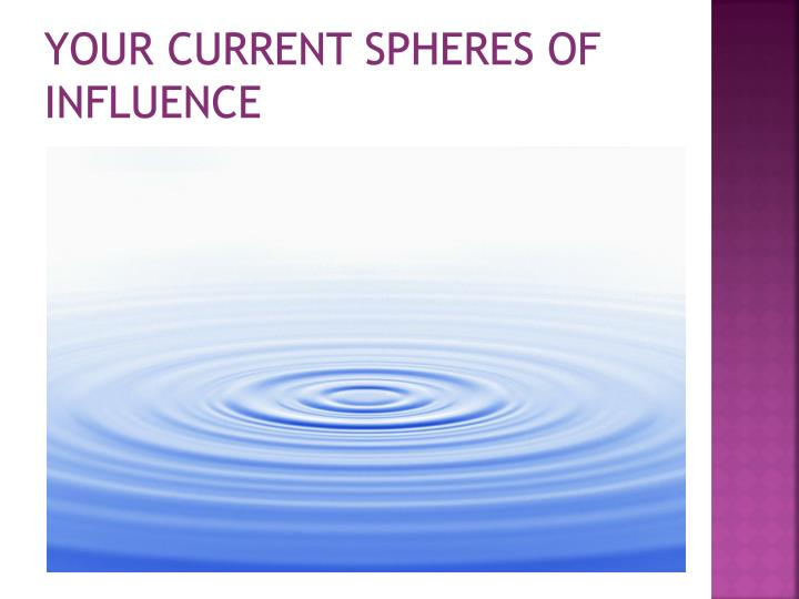 Your current spheres of influence