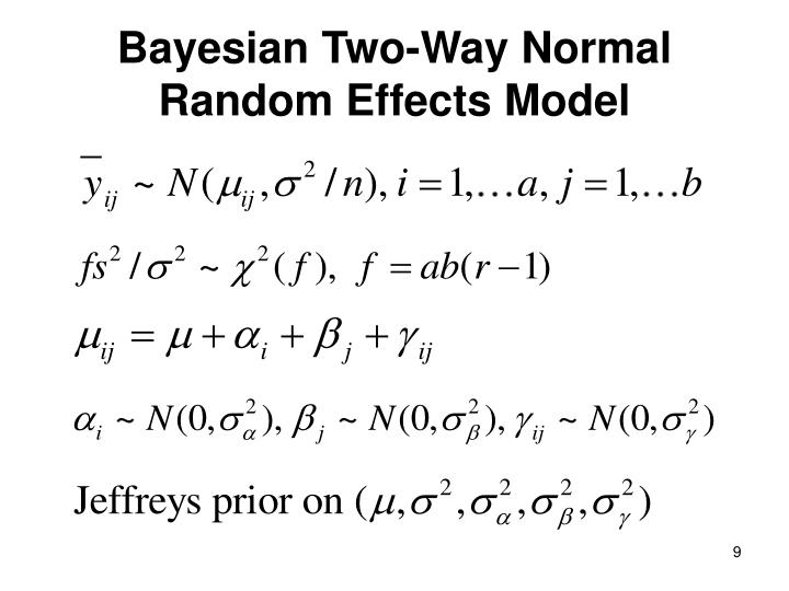 Bayesian Two-Way Normal Random Effects Model