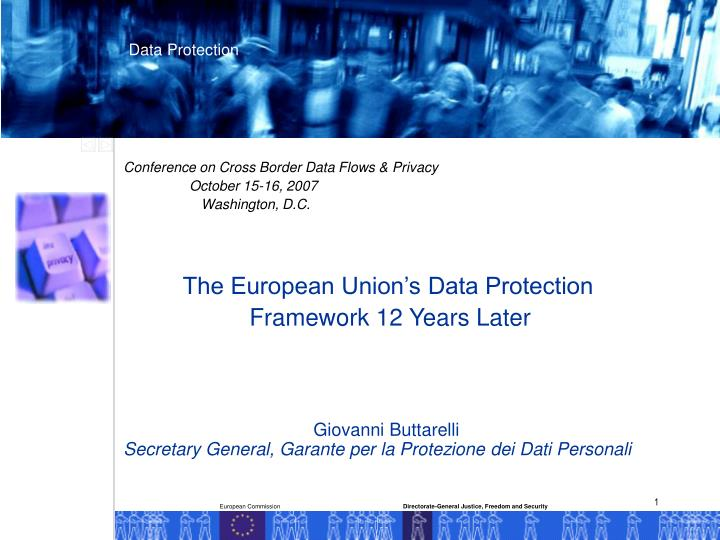 Conference on Cross Border Data Flows & Privacy