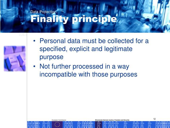 Finality principle