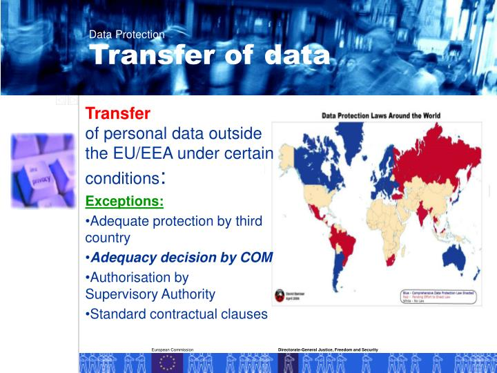 Transfer of data