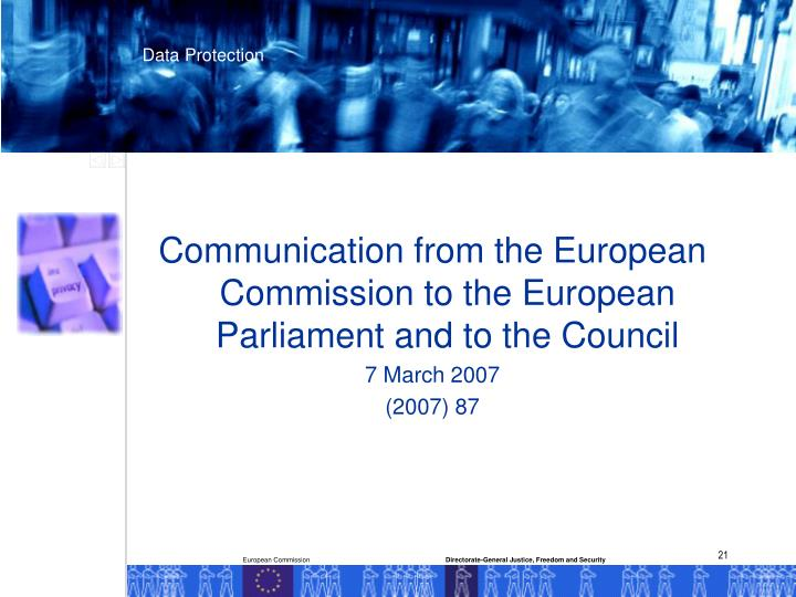Communication from the European Commission to the European Parliament and to the Council