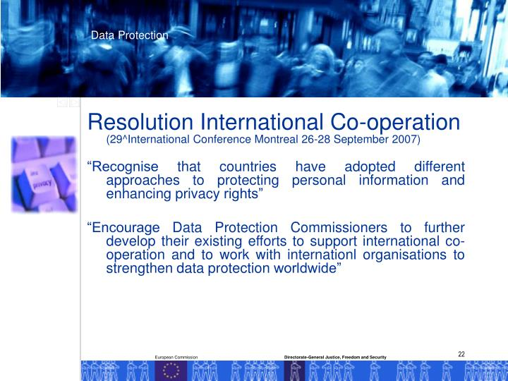 Resolution International Co-operation