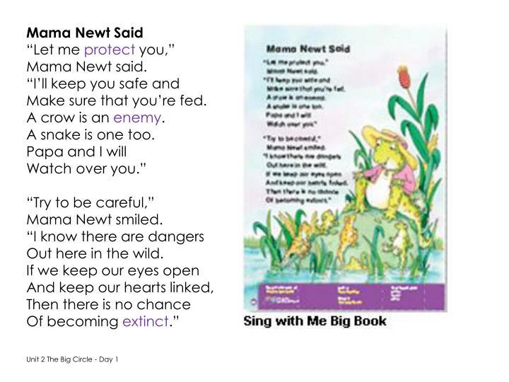Mama Newt Said