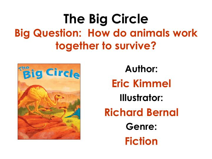 The big circle big question how do animals work together to survive