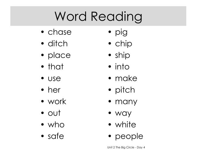 Word Reading