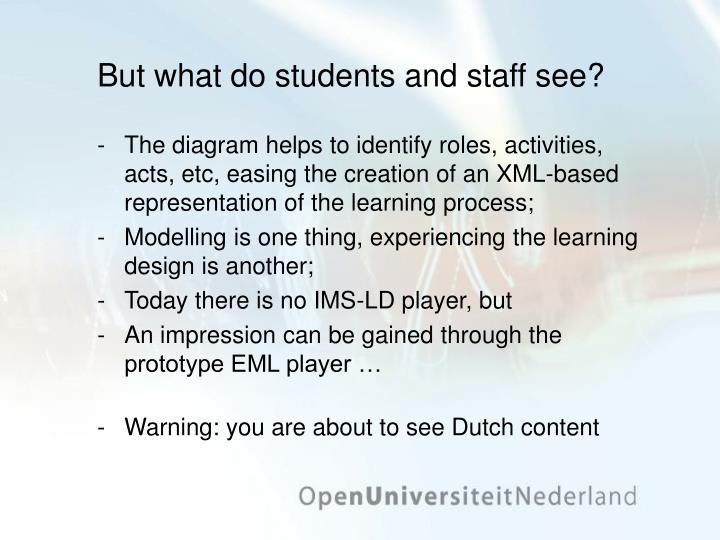 But what do students and staff see?
