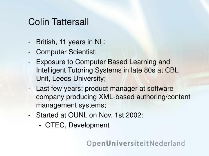 Colin Tattersall