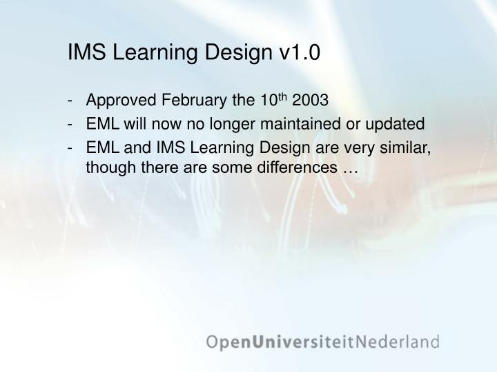 IMS Learning Design v1.0