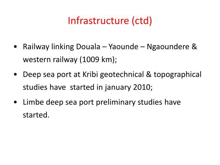 Infrastructure (ctd)