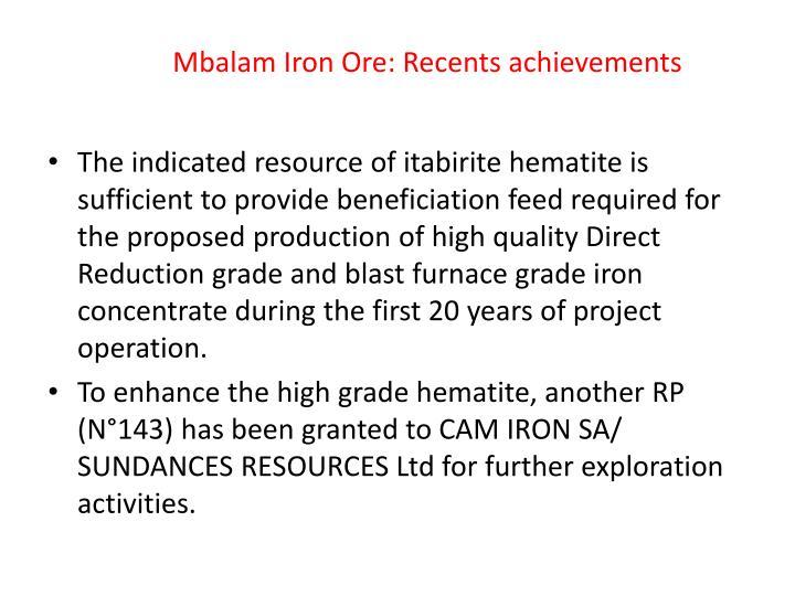 Mbalam Iron Ore: