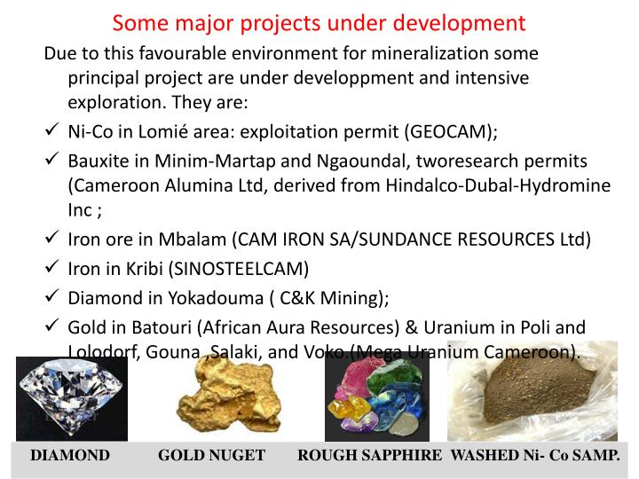 Some major projects under development