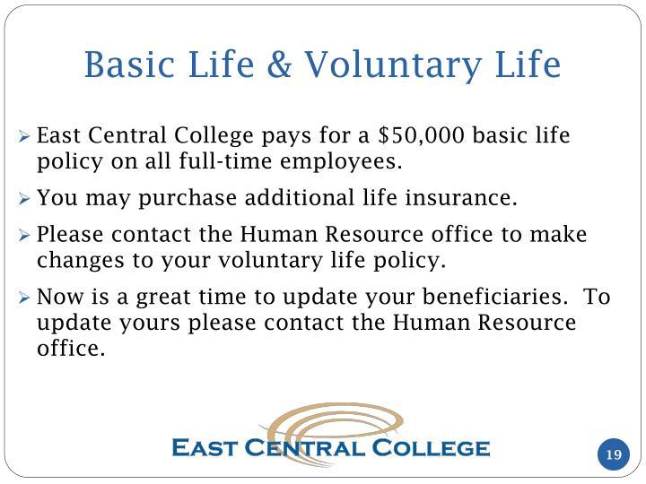 Basic Life & Voluntary Life