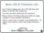 basic life voluntary life