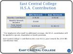 east central college h s a contribution