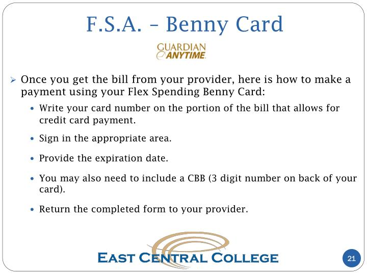 F.S.A. – Benny Card