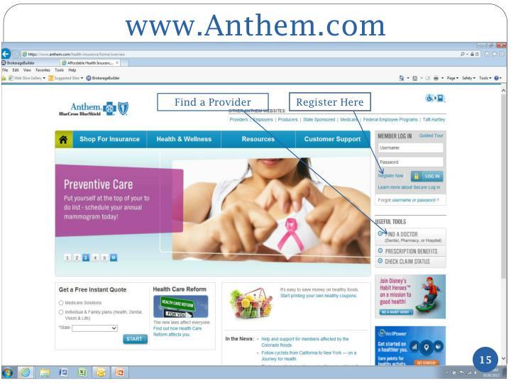 www.Anthem.com