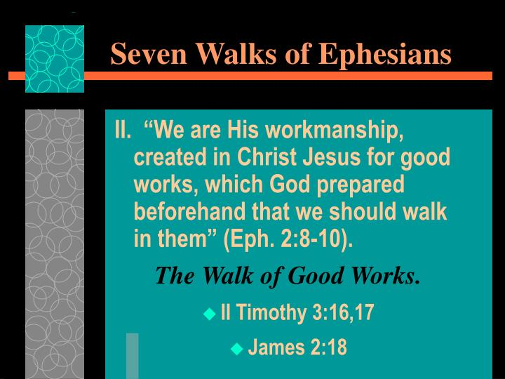 Seven walks of ephesians1