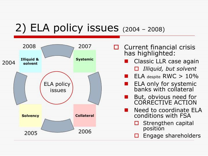 2) ELA policy issues