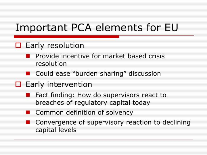 Important PCA elements for EU