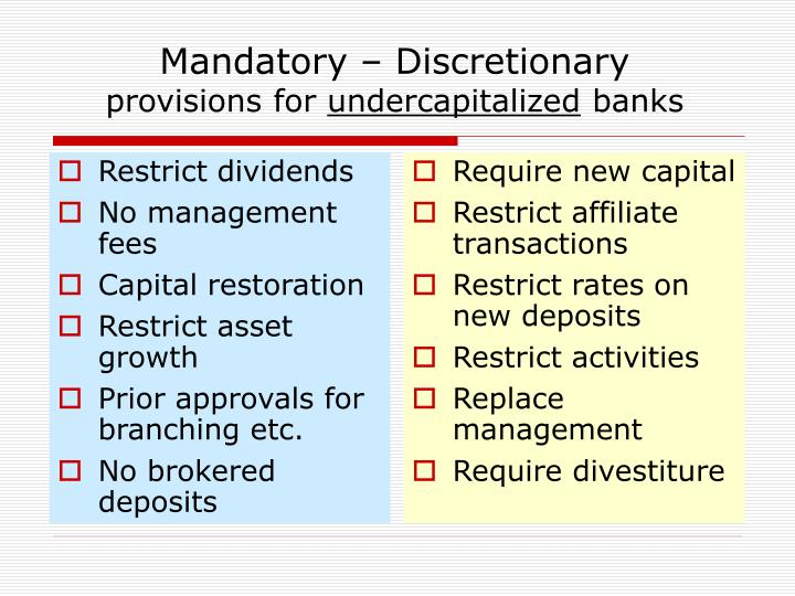 Restrict dividends