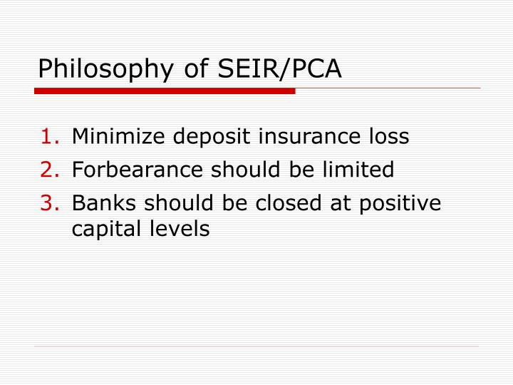 Philosophy of SEIR/PCA