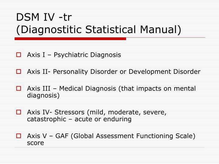 DSM IV -tr