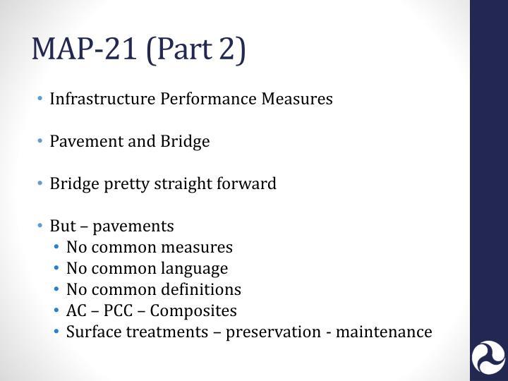 MAP-21 (Part 2)