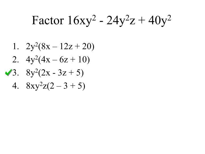 Factor 16xy