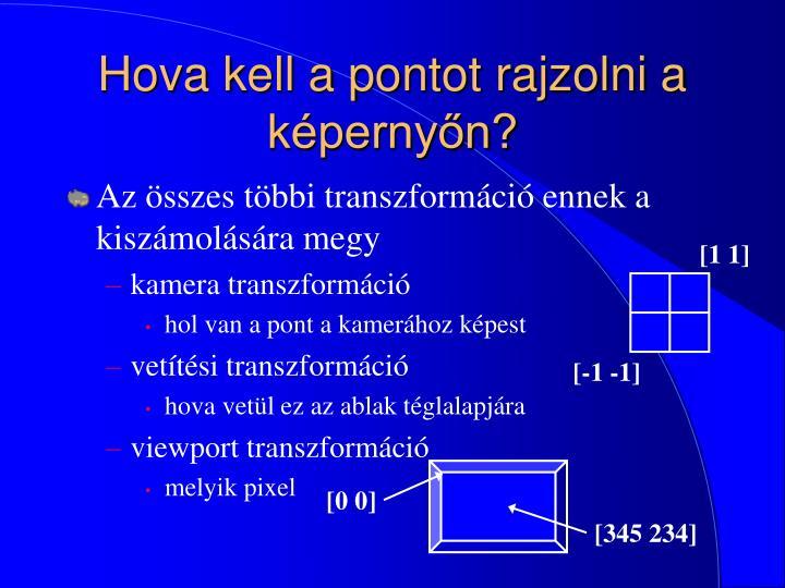 Hova kell a pontot rajzolni a képernyőn?