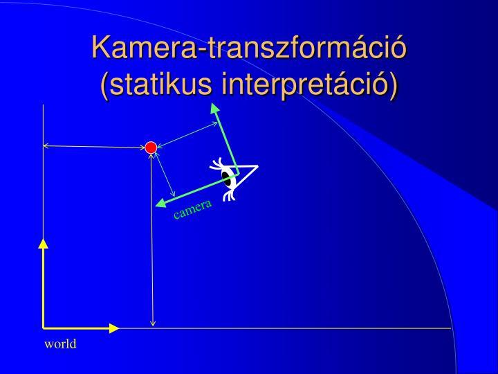 Kamera-transzformáció