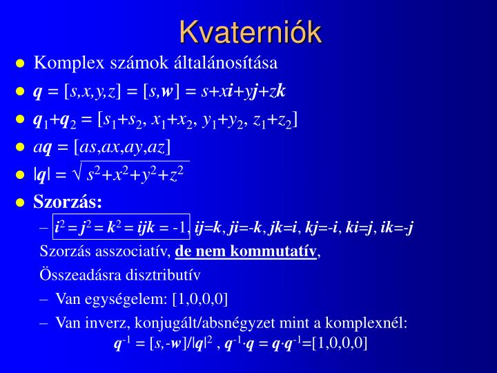 Kvaterniók