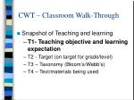 cwt classroom walk through