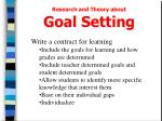 research and theory about goal setting2